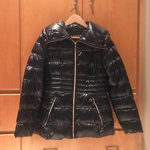 KL puffer down jacket with drawstring bag